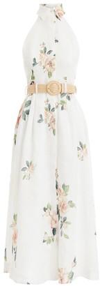 Zimmermann Kirra Halterneck Dress in Ivory Magnolia