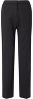 Jigsaw Weave Jacquard Trousers, Black
