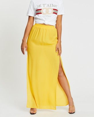 Missguided Double Split Side Maxi Skirt