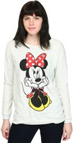 Disney womens Womens Minnie Mouse Sweet Sit French Terry Shirt
