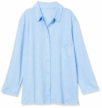 Majestic Filatures Women's Elbow Sleeve Linen Button Down Shirt