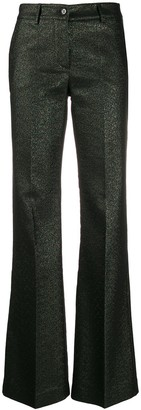 P.A.R.O.S.H. Flared Mid-Rise Trousers