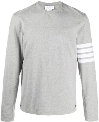 Thom Browne 4-Bar stripe long-sleeve T-shirt