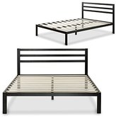 Zinus Modern Studio 14 Inch Platform 3000H Metal Bed Frame / Mattress Foundation / Wooden Slat Support / with Headboard, Full