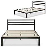 Zinus Modern Studio 14 Inch Platform 3000H Metal Bed Frame / Mattress Foundation / Wooden Slat Support / with Headboard, Queen