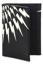 Neil Barrett Thunderbolt Calf Leather Tall Wallet
