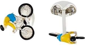 Deakin & Francis Men's Bike & Rider Cufflinks - Silver