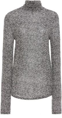 Isabel Marant Goyela Printed Stretch-Knit Turtleneck Top