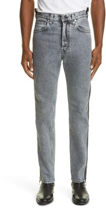 Helmut Lang Masc Hi Side Zip Straight Leg Jeans
