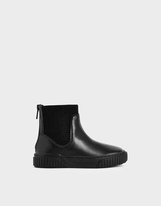 Charles & Keith Girls' Ankle Sock Boots