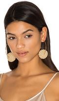 Mercedes Salazar Candongas Raffia Earrings in Beige.
