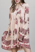 En Creme Lace Inset Dress