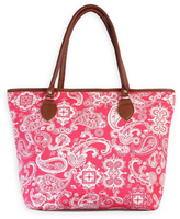 Riah Fashion Paisley Tote Bag