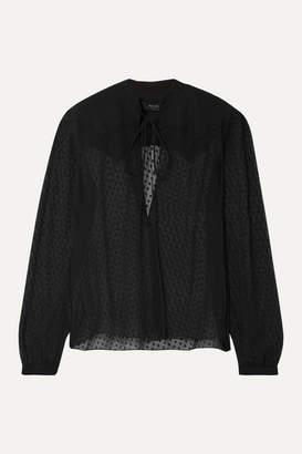 Amiri Fil Coupe Silk-chiffon Blouse - Black