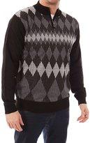 Dinamit Jeans Men's Cardinali Argyle Quarter Zip Sweater XXL