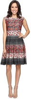 Christin Michaels Adriane Printed Fit and Flare Dress