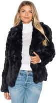 525 America Rabbit Fur Peacoat