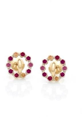 Charlotte Chesnais Red Saturn Earrings