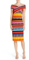 ECI 'Leno' Stripe Midi Dress