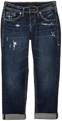 Silver Jeans Co. Suki Mid-Rise Perfectly Curvy Fit Denim Capris L43916SSX355 (Indigo) Women's Jeans