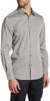 Perry Ellis Checkered Long Sleeve Regular Fit Shirt