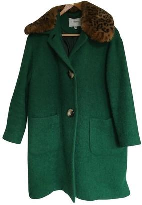 LK Bennett Green Wool Coat for Women