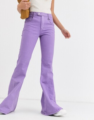 Rachel Antonoff bette super flare jeans-Purple