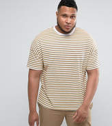 Asos PLUS Oversized Retro Stripe T-Shirt