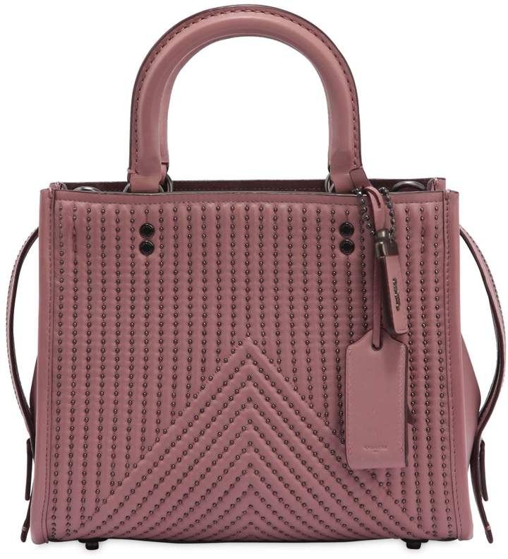 Coach Rogue Studs Quilted Nappa Leather Bag