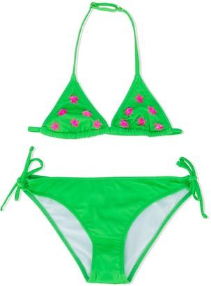 Mc2 Saint Barth Kids Star Slogan Print Bikini