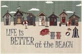 Asstd National Brand Better at the Beach Novelty Rectangular Rug