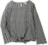 Lucky Brand Plaid Tie Front Top (Big Girls)