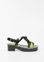 Dries Van Noten yellow knot sandal heel