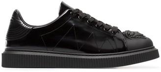 Versace black Medusa patent leather sneakers