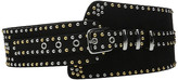 The Kooples Suede Leather and Studs Belt