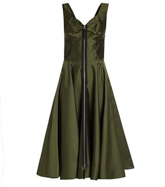 Marni Mikado Zip Front Fit-&-Flare Dress