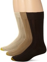 Gold Toe Men's Freshcare Dress Rib 3 Pack