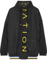 P.E Nation - Off The Block Printed Shell Jacket - Black