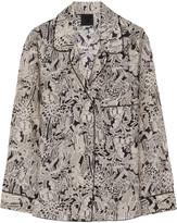 Anna Sui Printed silk-crepe shirt