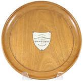 One Kings Lane Vintage Silver Shield Presentation Wood Plate