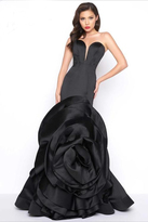 Mac Duggal Black White Red Style 85513R