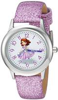 Disney Girl's 'Princess Sofia' Quartz Stainless Steel Casual Watch, Color:Purple (Model: WDS000269)