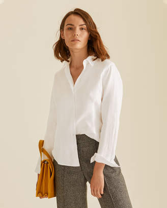 Jigsaw Cross Weave Darted Linen Shirt
