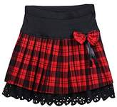 Upgraded Women's A Line High Waist Plaid Pleated Fla Mini Skirt Tartan Kilt by TOFLY