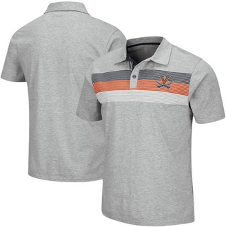 Colosseum Men's Heathered Gray Virginia Cavaliers Stinson Polo