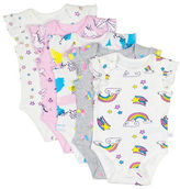 Rosie Pope Baby Baby's Flutter-Sleeve Bodysuit- Pack of 5