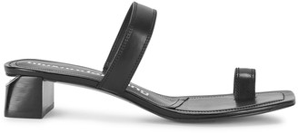 Alexander Wang Ellis 40 black leather sandals