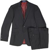 English Laundry Gray & Black Tattersall Slim Fit Suit Jacket & Pants