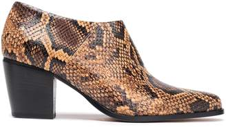 Vince Hamilton Snake-effect Leather Ankle Boots