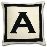 """Jonathan Adler Letter Pillow, 16"""" x 16"""""""